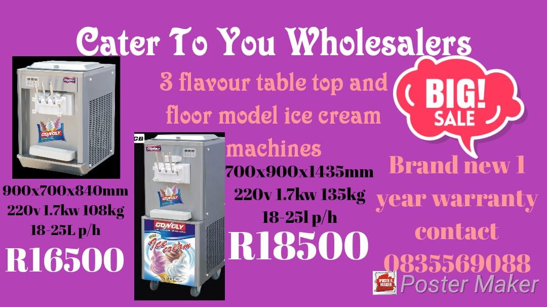 ICE CREAM MACHINE @ WHOLESALE PRICES DIRECT TO THE PUBLIC!!!