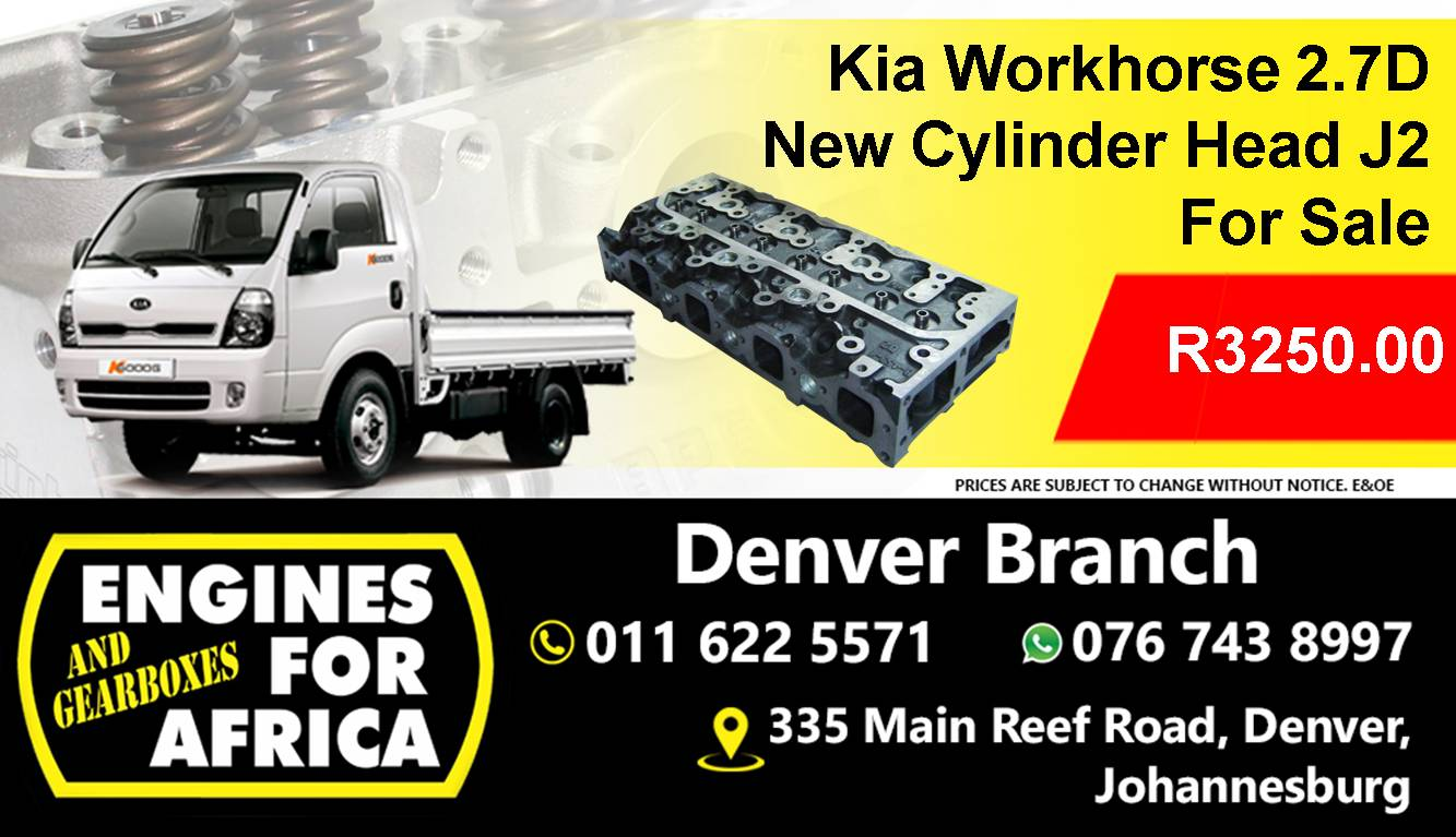 New Kia Workhorse 2 7D Cylinder Head J2 for sale at Engines for Africa