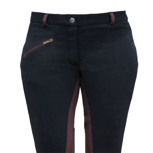 BREECHES COTTON – TWO TONE – BLACK/BROWN