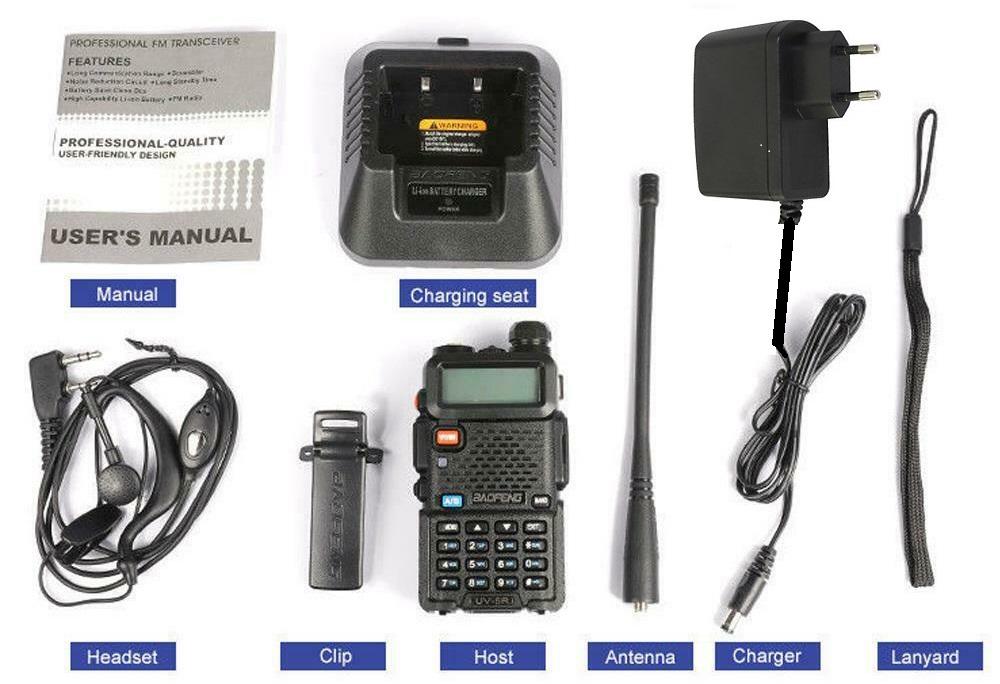 BAOFENG UV-5R Walkie Talkie VHF UHF Dual Band 8W Handheld Two Way Radio / Transceiver. All Brand New