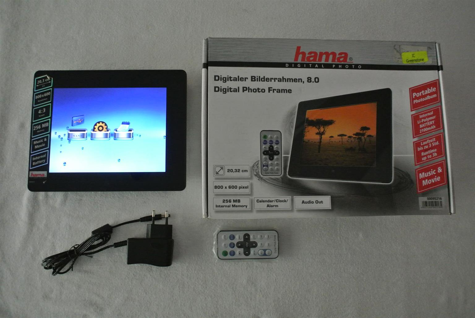 """Hama 8"""" Portable Rechargeable Photo viewer  Plays Movies with sound"""