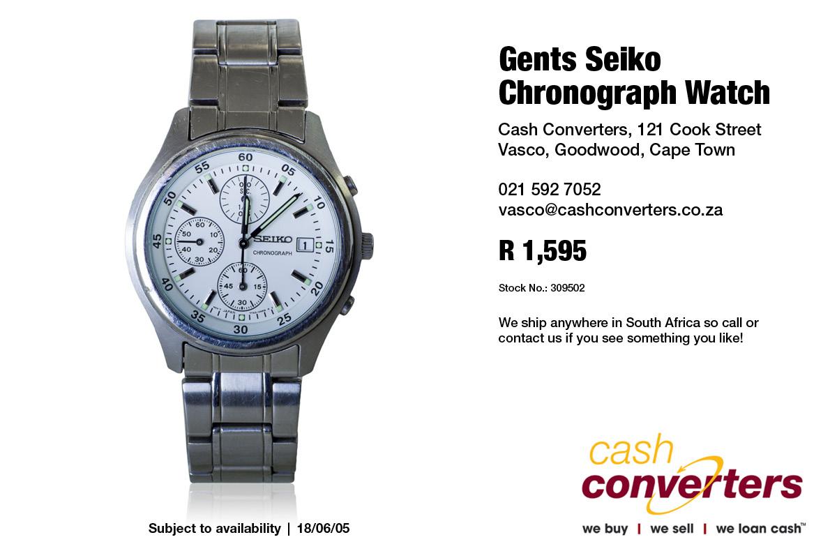 Gents Seiko Chronograph Watch