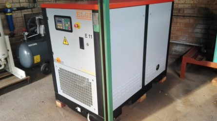 ELGI 11KW Screw Compressor FSH low hours excellent condition