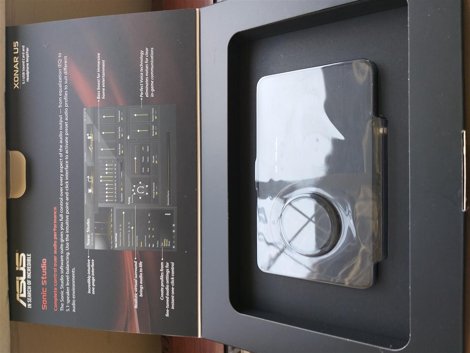 Asus XONAR U5 5.1 Channel USB Sound Card and Headphone Amplifier