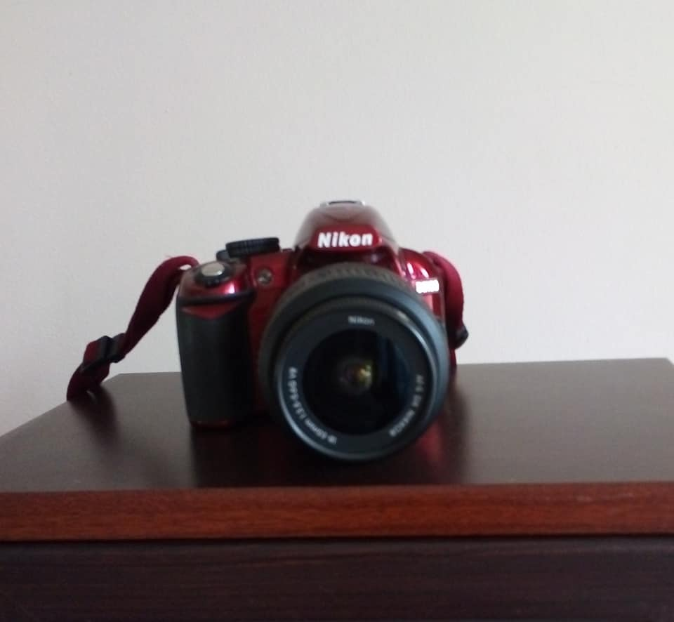Nikon D3100 (red) & accessories CASH ONLY