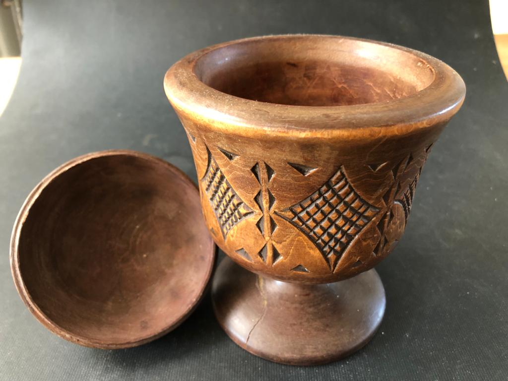 Unique Blackwood cup with lid - made in Russia