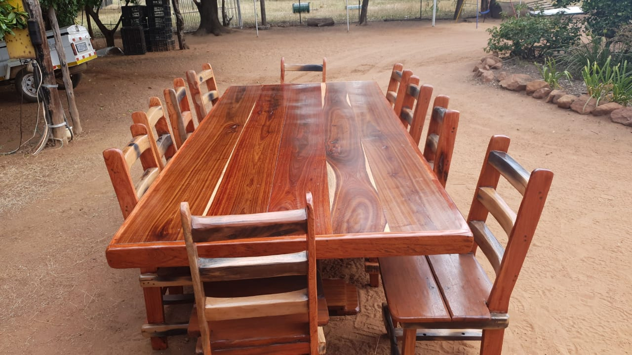 10 Seater Sleeper wood table