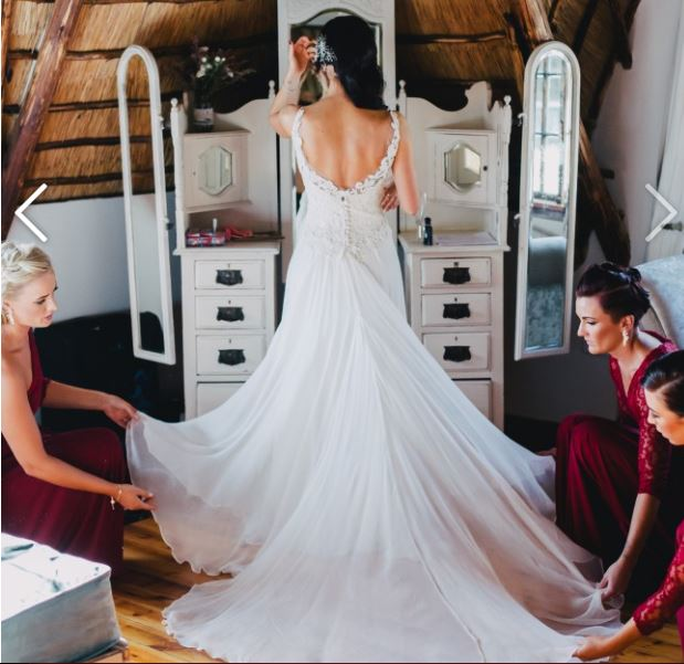 Beautiful Gaipur lace Wedding Dress for sale