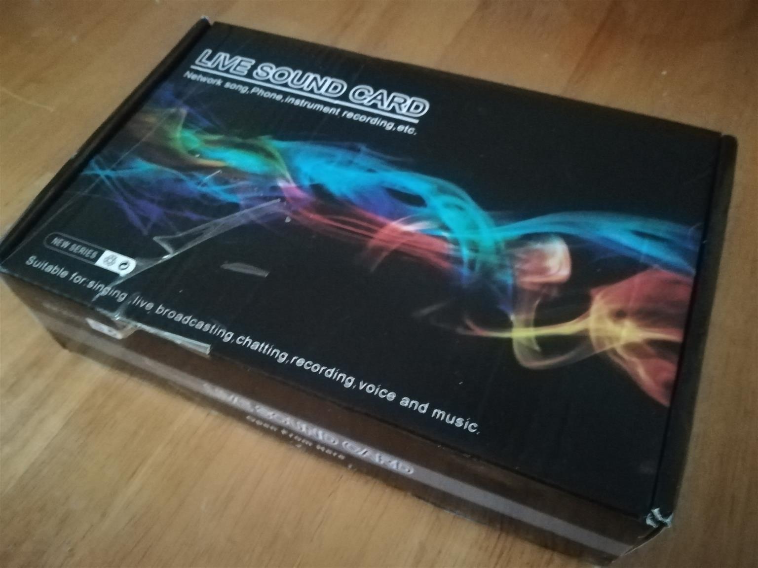 DW V8 Sound Card for Smart Devices PC Live Sound