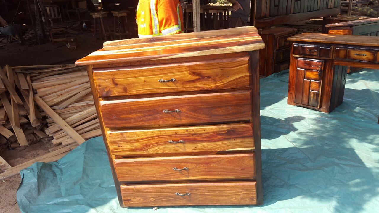 Drawers made of sleeper wood