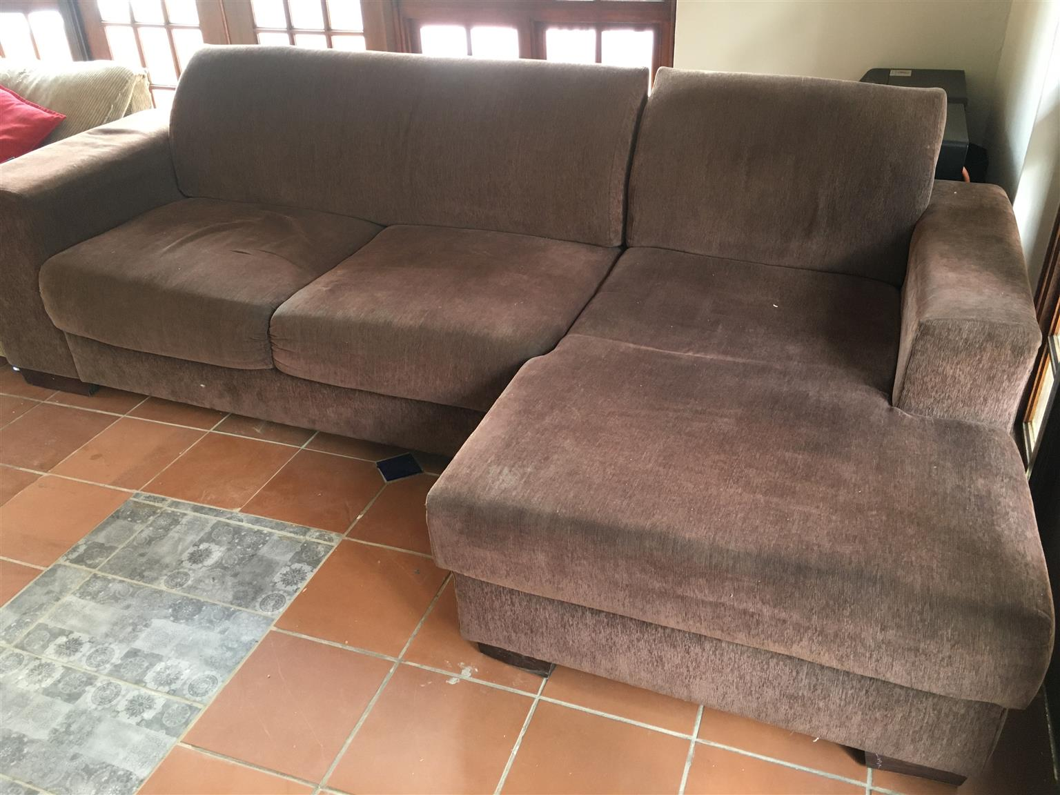 Picture of: L Shape Brown Couch Junk Mail