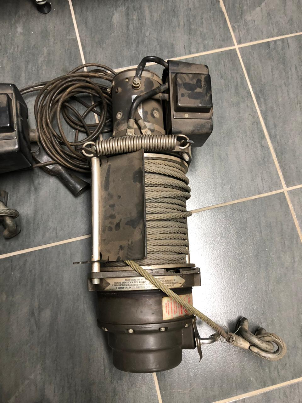 2 NEVER BEEN USED WARN 15T WINCH WITH REMOTE CONTROL AND CABLE