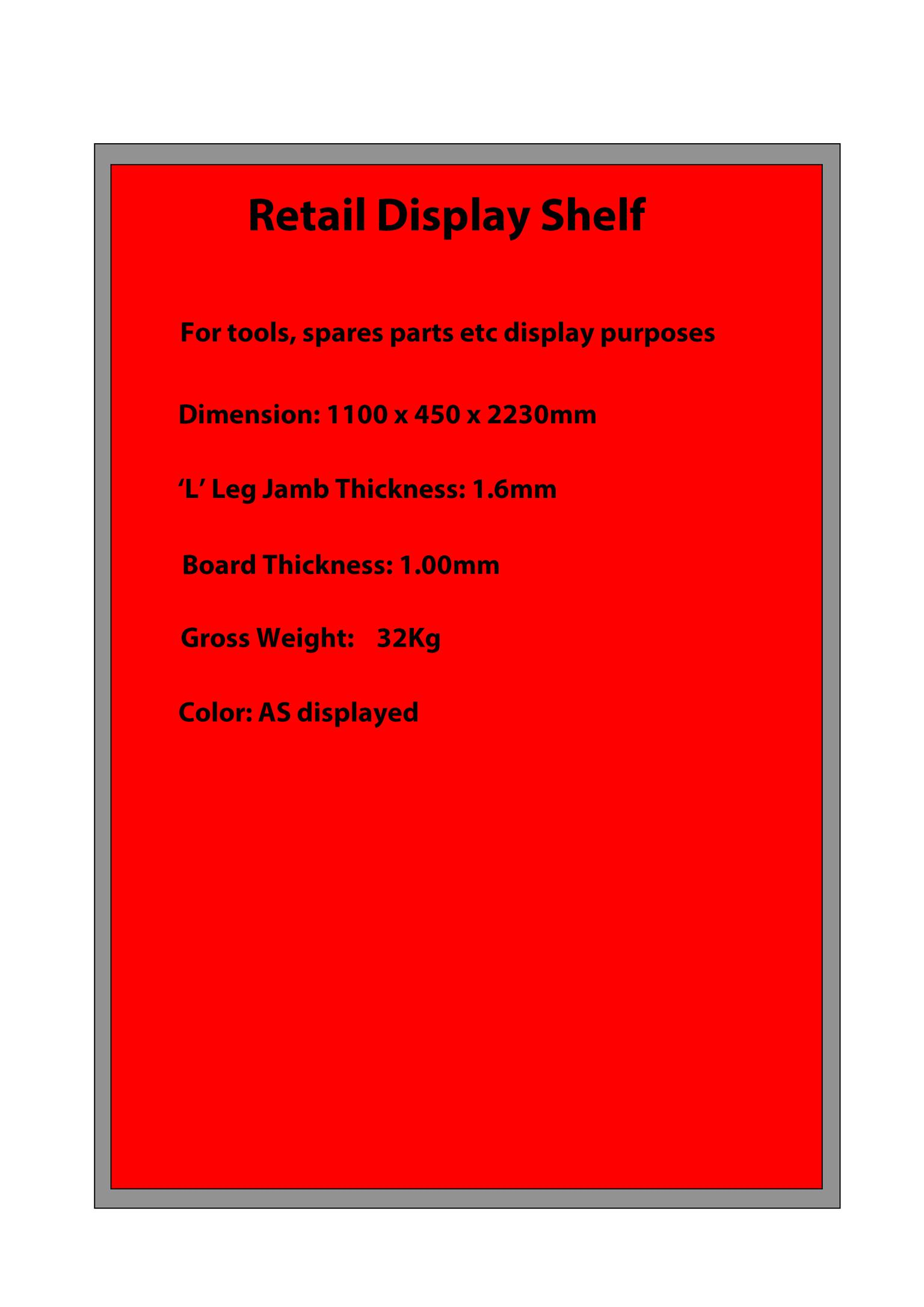 Retail Light Box Display Shelf