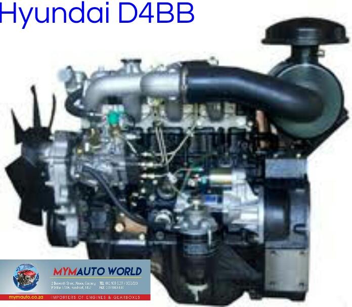HYUNDAI H100 2.6L DIESEL, D4BB, Complete engine