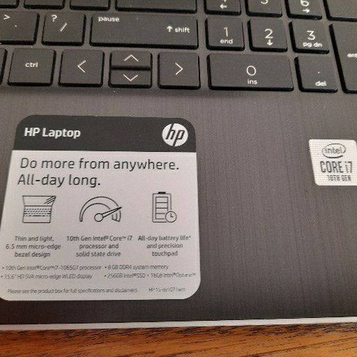 HP 15-dy1071wm i7 10TH Generation