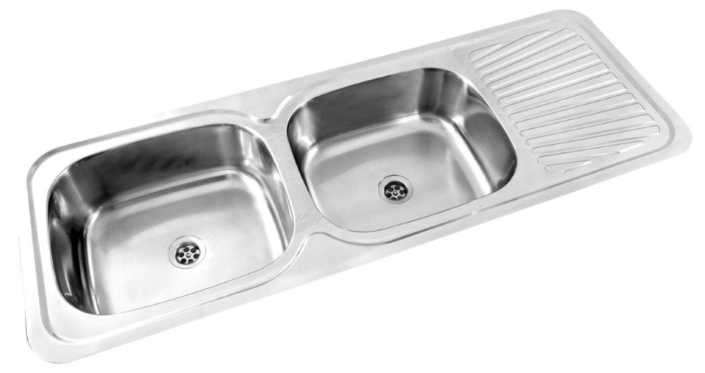 Kitchen Sink Kwikot Double End Bowl Drip Tray Drop In