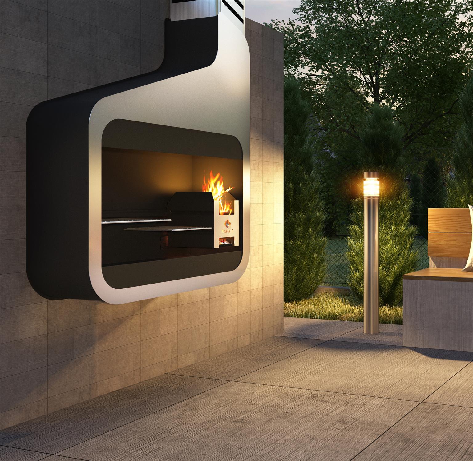 Designer Wall Mount Braai