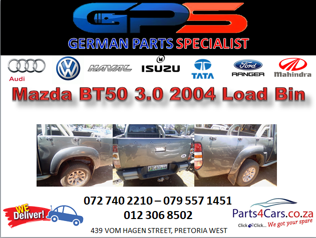 Mazda BT50 3.0 2004 Load Bin for Sale