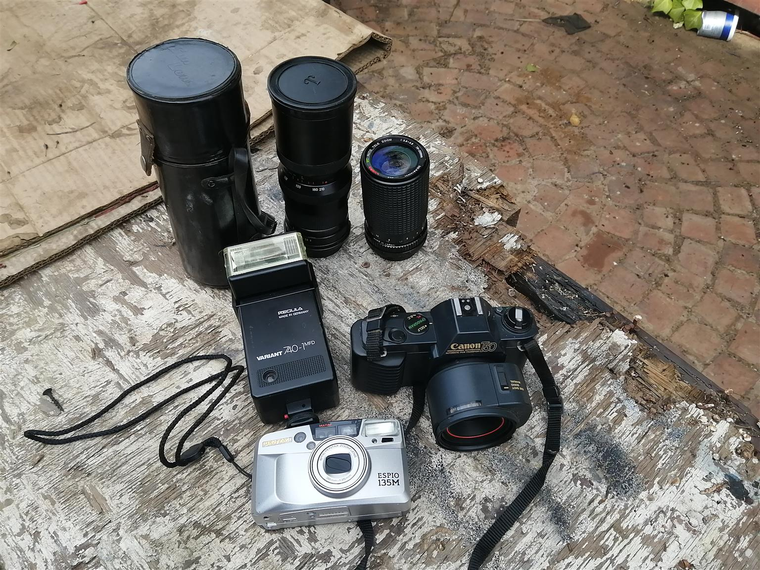 35 mm Camera x 2 and equipment for sale