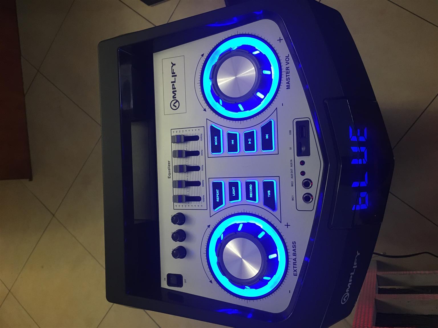 "Amplify Colossus Series Dual 12"" Portable Bluetooth/FM Speaker"