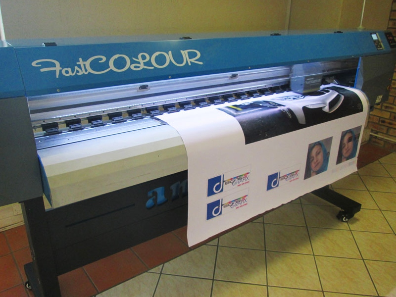 R1295/m F1-1604/XP600 Large Format Printer Rental: FastCOLOUR ONE 1600mm Printing Area