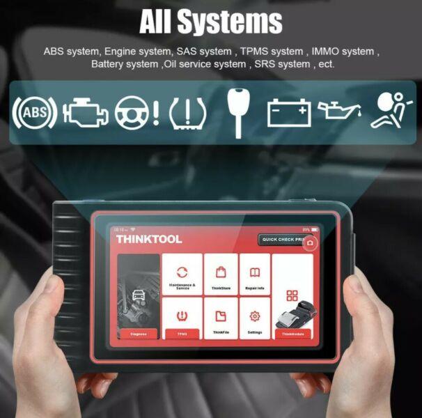 Launch THINKCAR ThinkTool Car Diagnostic Tool TPMS All System Diagnose ECU Coding 16 Reset