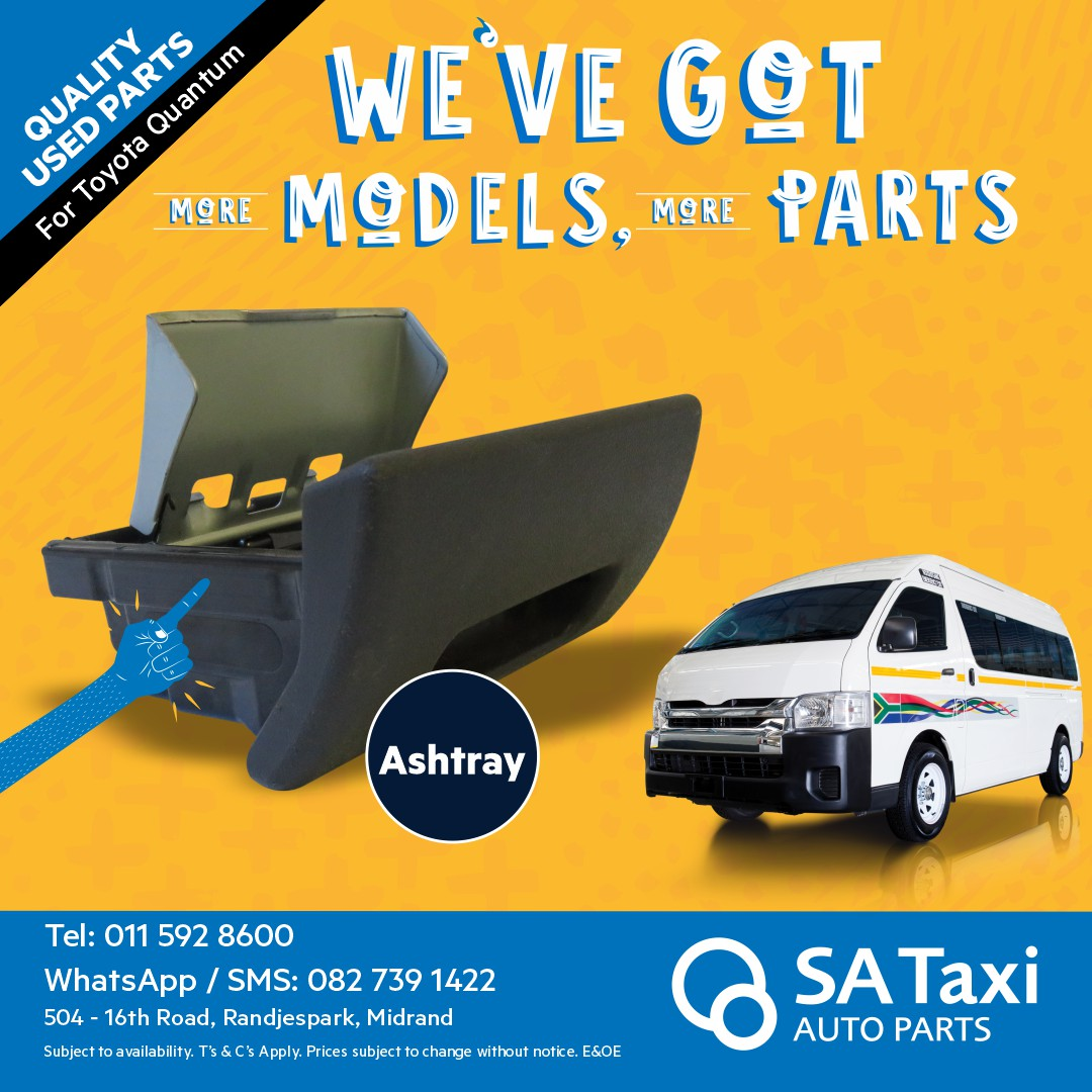 Ashtray suitable for Toyota Quantum - SA Taxi Auto Parts quality used spares