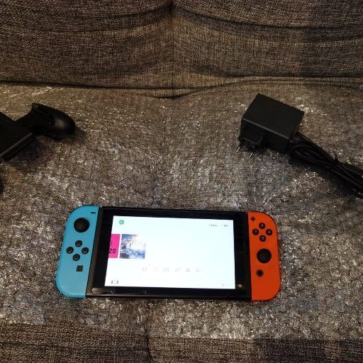 Nintendo switch with charger