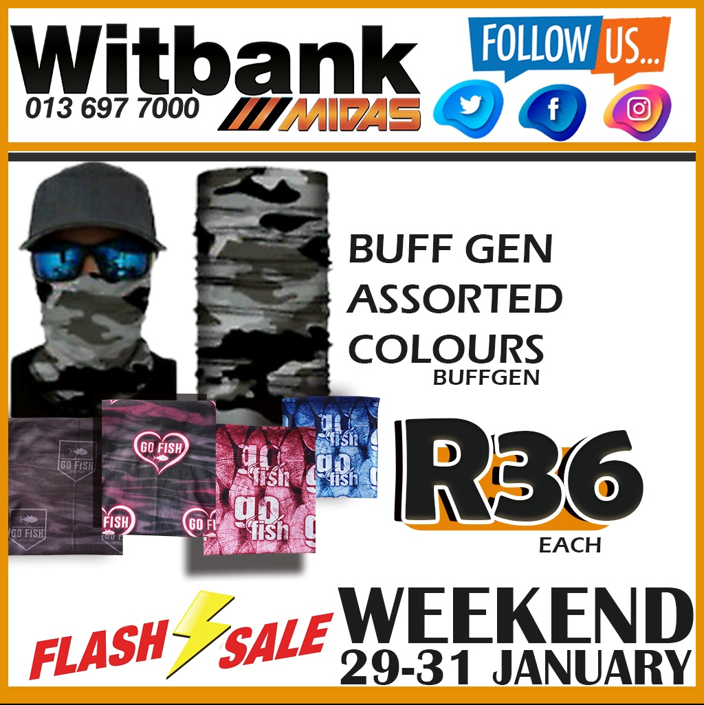 Buff Gen Assorted Colours ONLY R36!