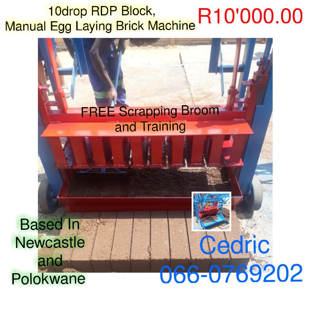 10drop RDP BLOCK, Manual Egg Laying Brick Machine