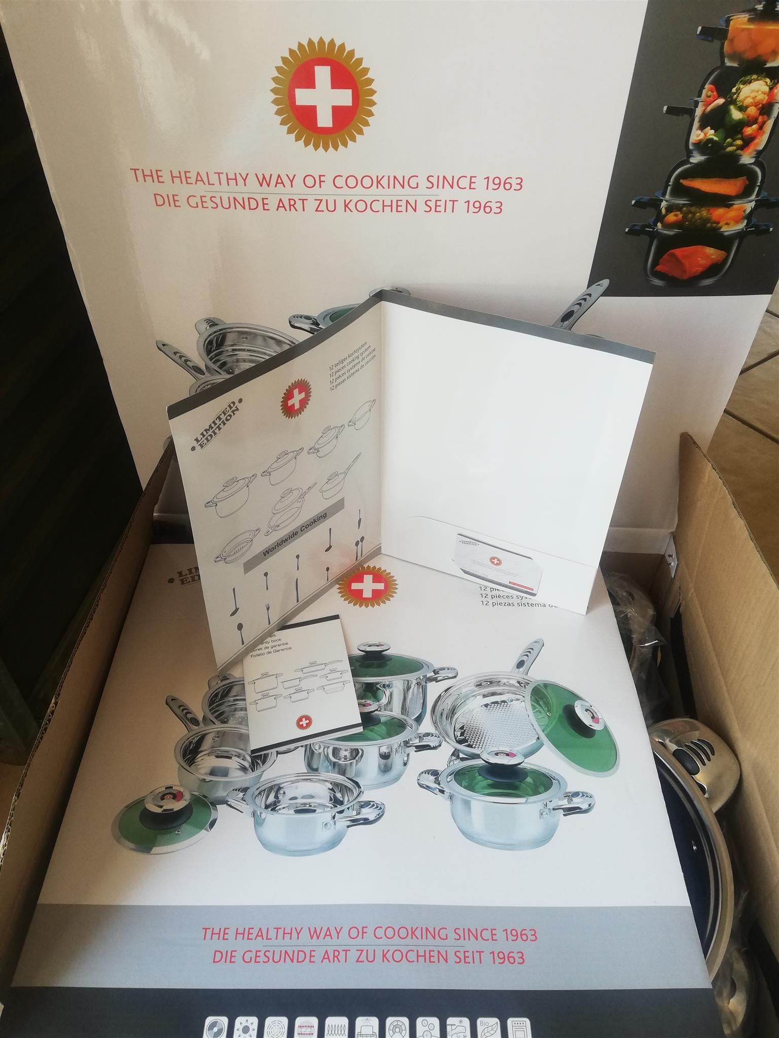 Original Swiss Brand Cooking system and Cutlery Set