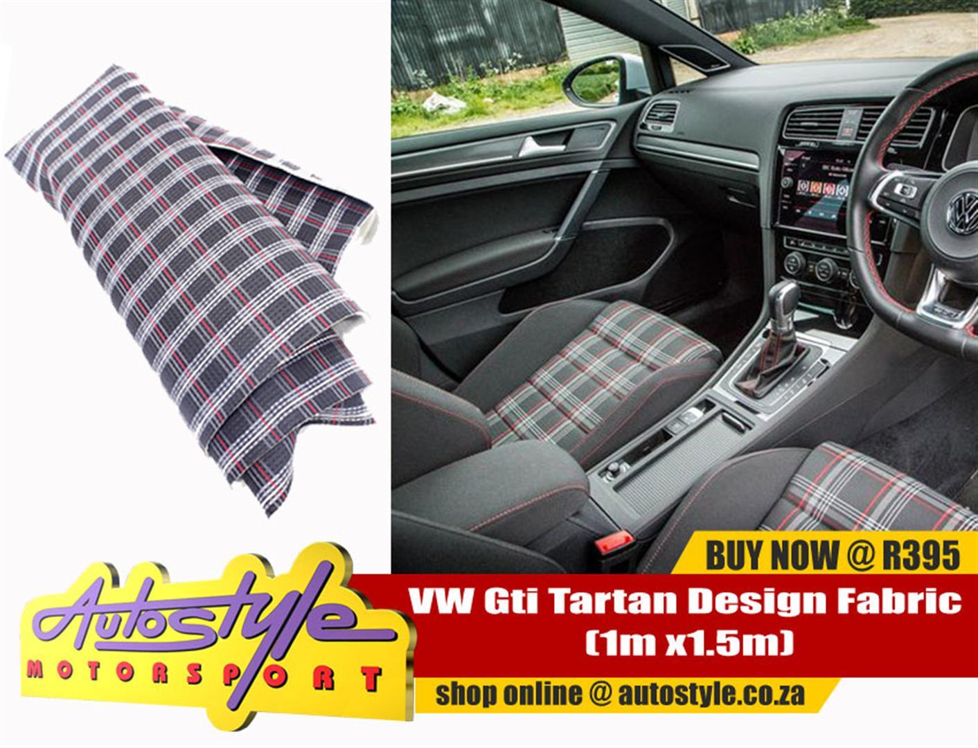 VW  golf Gti Tartan Design Fabric (1m x1.5m)