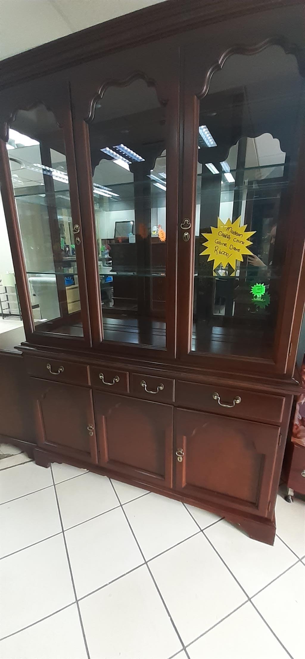 Madison cherry china Cabinets.