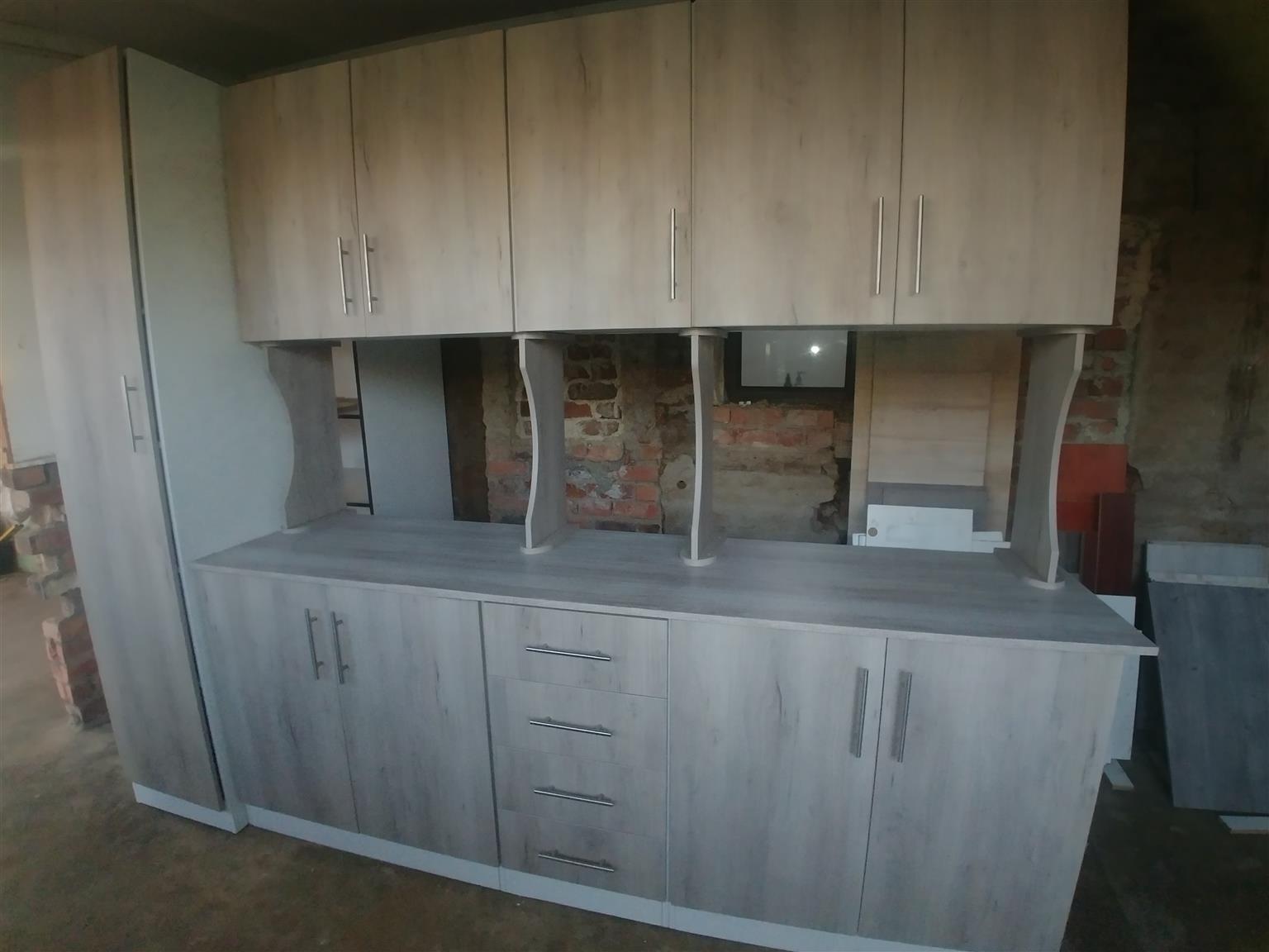 7 cupboard stand alone kotchen