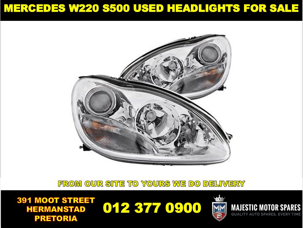 Mercedes Benz W220 S-500 used headlights for sale