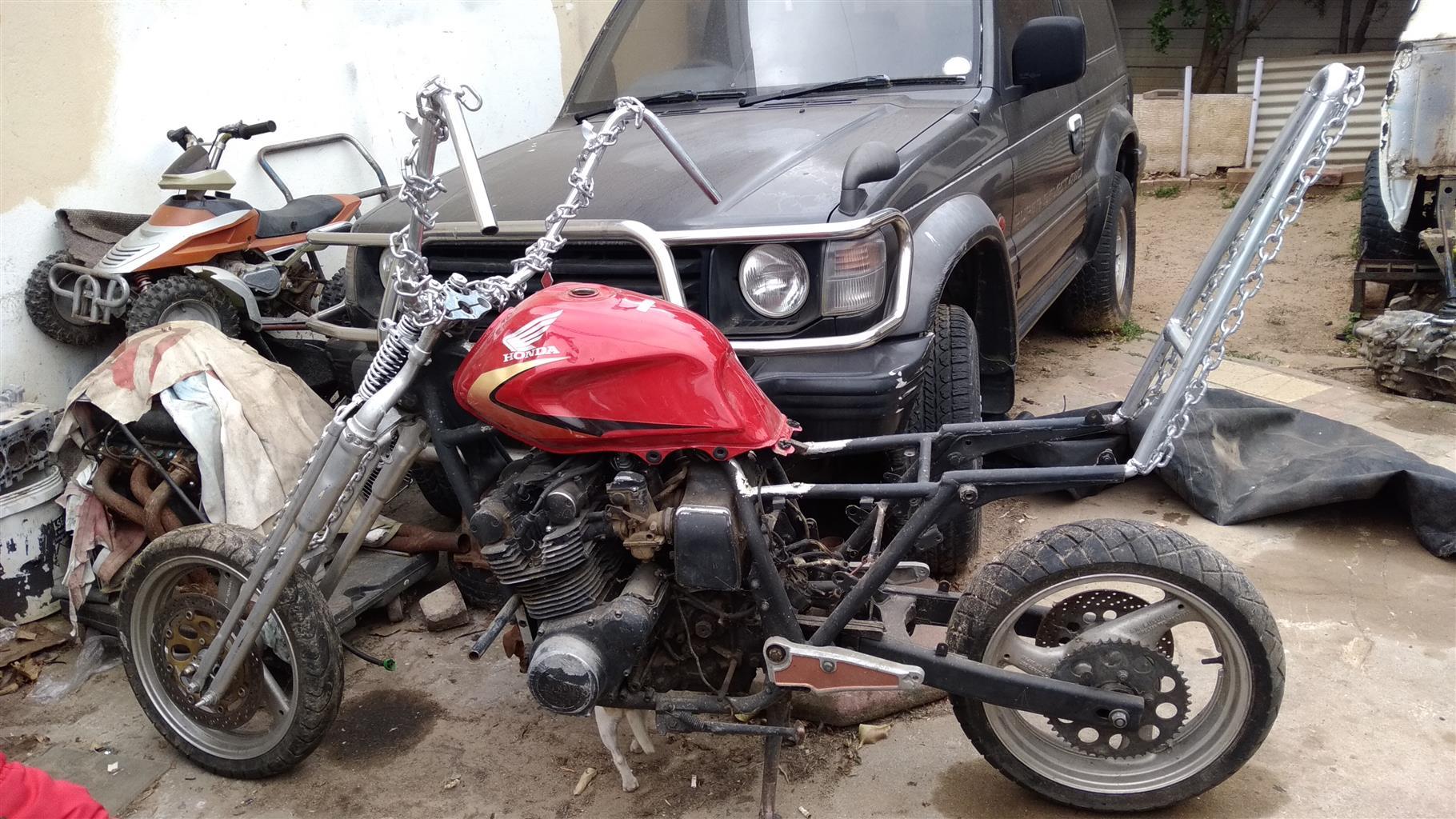 1980 750gs Suzuki Chopper project