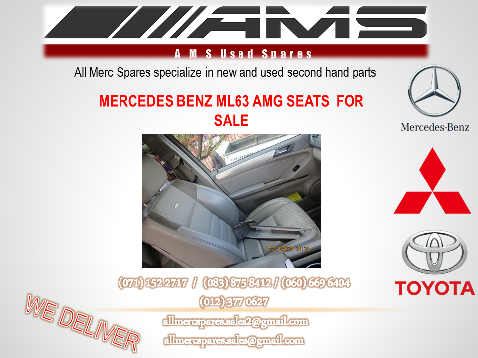 MERCEDES BENZ ML63 AMG SEATS FOR SALE