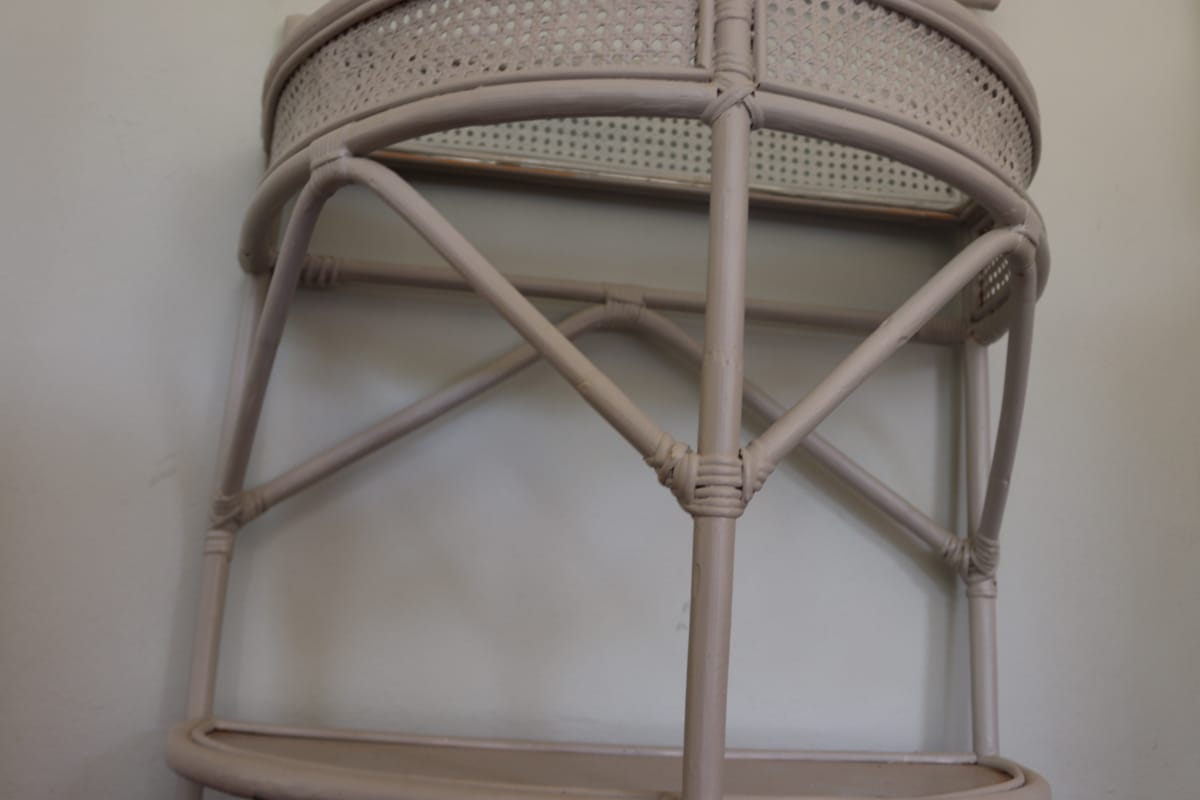 Rattan Mirror & Tabel set