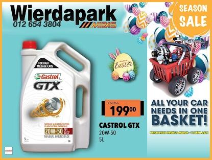 Season SALE! Get Castrol GTX for ONLY  at Wierdapark Midas!