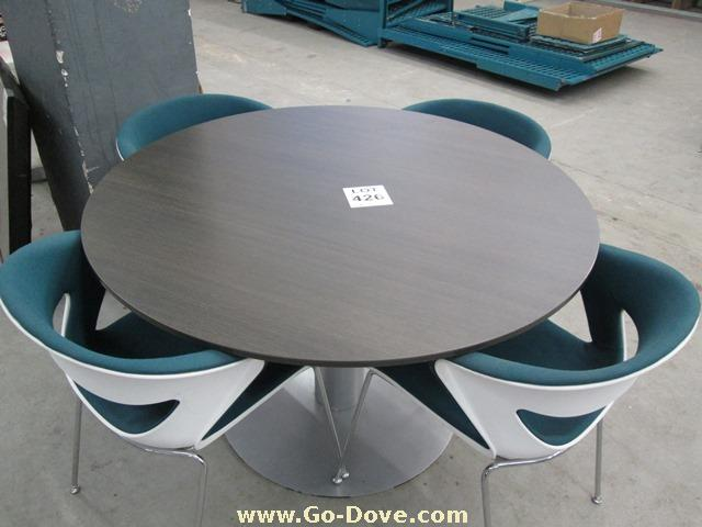 Beautiful Darkwood Meeting/Boardroom Tables with & Strong metal frame - R 1500
