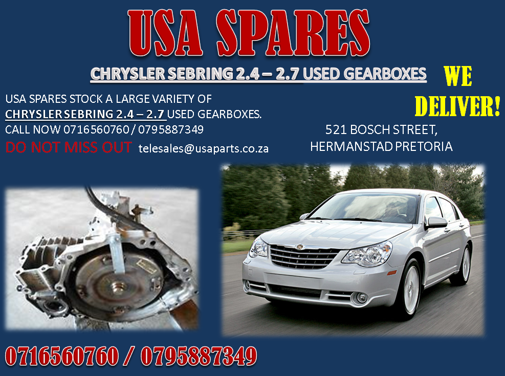 CHRYSLER SEBRING 2.4 – 2.7 USED GEARBOXES FOR SALE