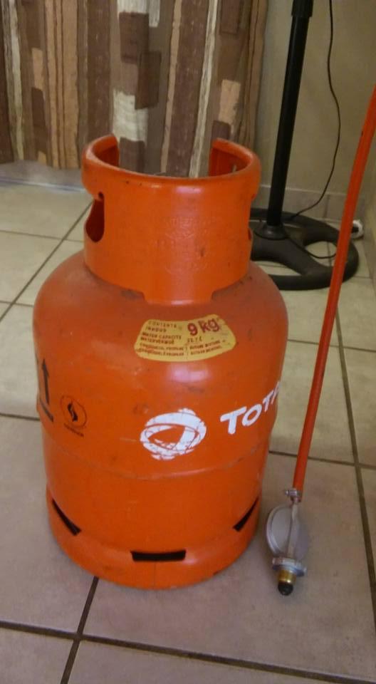 Orange gas bottle for sale