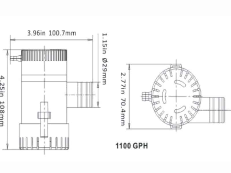 SEAFLO BILGE PUMP 1100GPH 12V