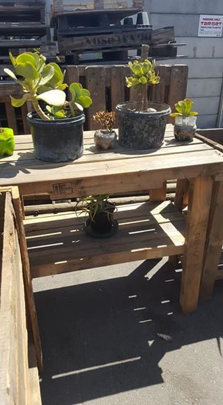 Wooden plant display table for sale