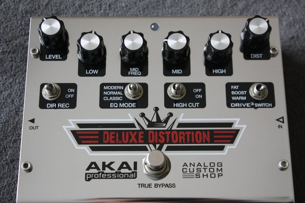 Akai Deluxe Distortion Guitar Effects Pedal - Custom Shop (New in Box)
