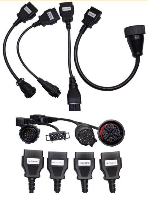 Truck - OBDII Connector Adapter Cables – 1 Set of 8 Cables