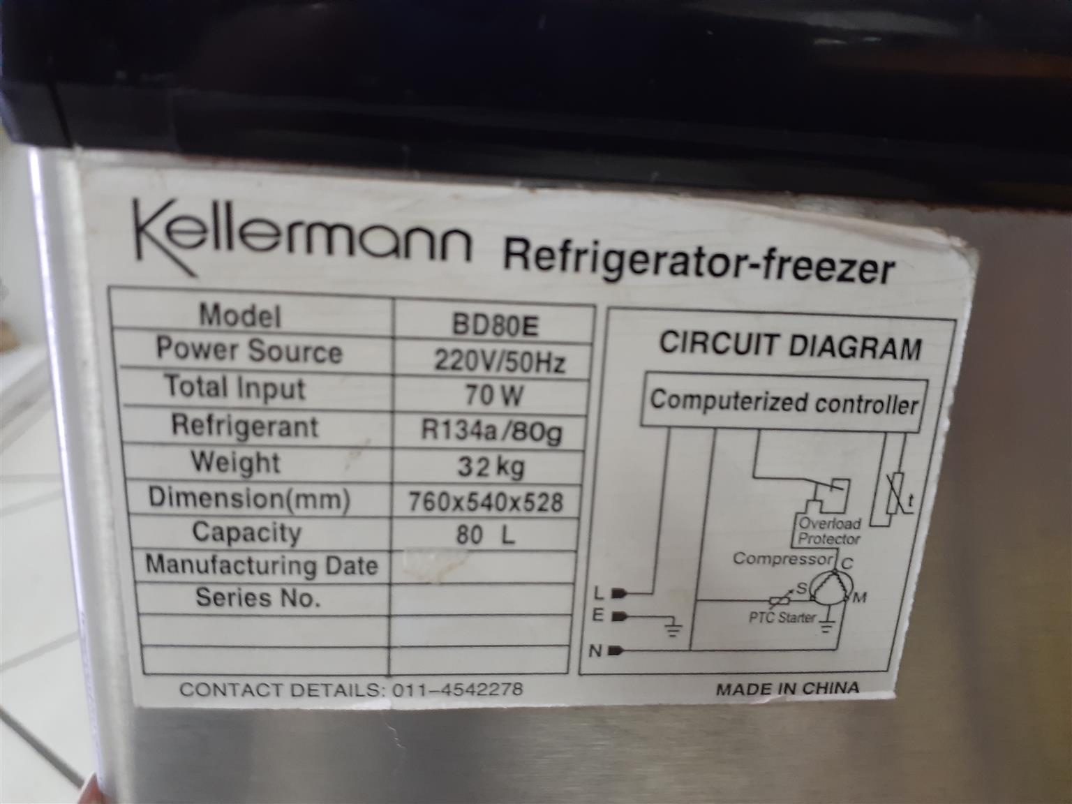 Kellerman Camping freezer