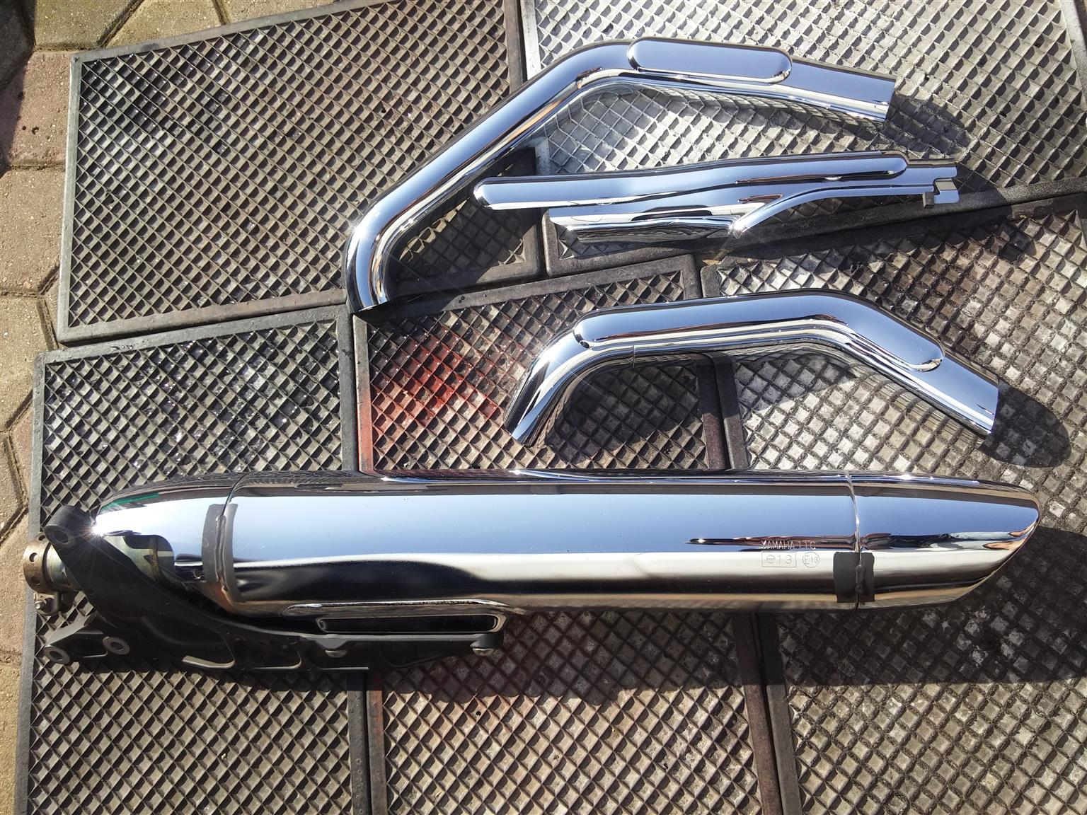 Exhaust Silencer and Chrome covers