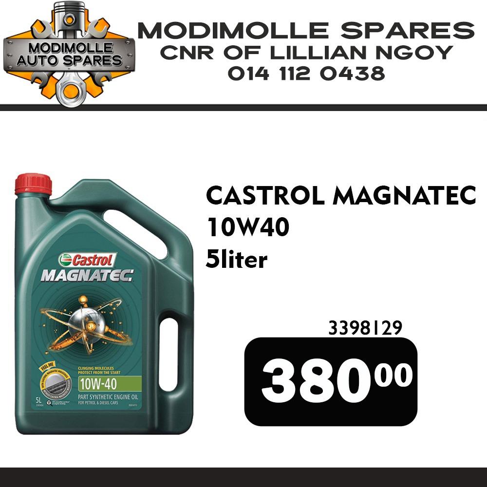 Castrol Magnatec 5 Liter ONLY R380 at Modimolle Spares!