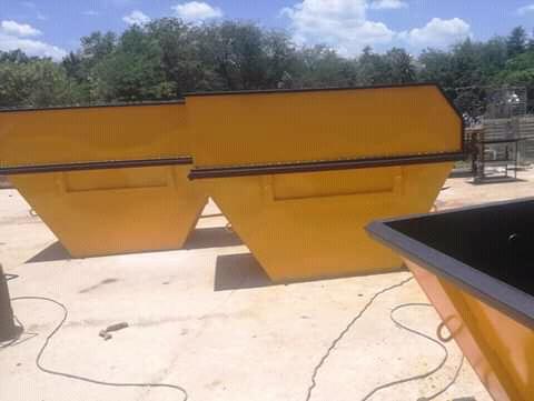 10 mini skip bins and hydraulic trailer